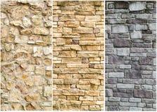 石墙表面的模式 库存照片