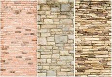 石墙表面的模式 免版税库存图片
