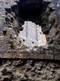 石墙细节在Corfe城堡,英国的 免版税图库摄影