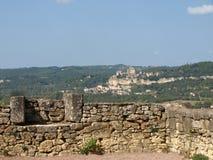 石墙Marqueyssac 免版税库存照片