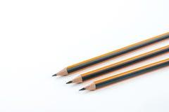 石墨木铅笔被隔绝在与拷贝的白色背景 免版税库存图片