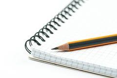 石墨木铅笔被隔绝在与拷贝空间的白色背景 图库摄影