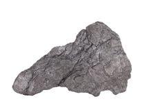 """石墨从当地元素类,碳的修改的†""""软绵绵地矿物自然样品在白色背景的 免版税图库摄影"""