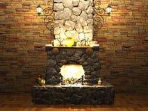 石壁炉 图库摄影