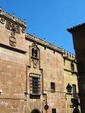 石大厦, Poble Espanyol,巴塞罗那,西班牙 免版税库存图片