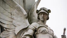 石天使雕象  免版税库存图片