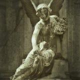 石天使雕象 库存图片