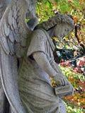 石天使雕象 图库摄影