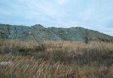 石头、沙子和土墩猎物建筑的 库存图片