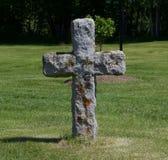 石头十字架  库存图片