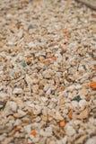 石头和小卵石背景  免版税库存照片