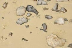 石头和沙子背景 图库摄影