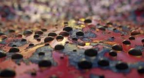 石头和泡影抽象背景在抽象红潮 爬行动物抽象皮肤  3d?? 向量例证