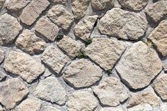 石头和灰浆墙壁纹理 免版税库存照片