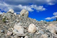 石头和石渣堆  库存图片
