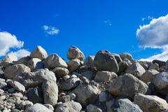 石头和石渣堆  图库摄影
