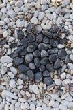 石头在假山花园里 免版税图库摄影