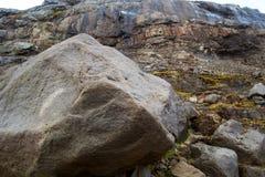 石头在冰岛 库存图片