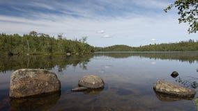 石头在Forest湖 库存图片