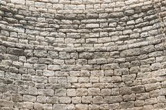石头层数在井的 库存图片