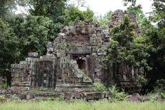 石头废墟在吴哥,暹粒,柬埔寨 库存图片