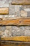 石头构造木 免版税库存照片