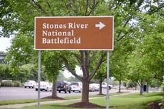 石头河全国战场Murfreesboro 免版税库存图片