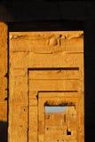 石头的Alignement在Kom Ombo寺庙的 免版税库存图片