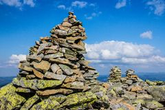 石头自然地被形成在上面 库存图片