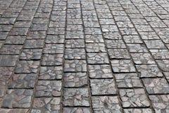 石头被铺的路 免版税库存照片