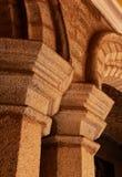 石头装饰品在班格洛宫殿  库存照片