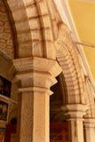 石头装饰品在班格洛宫殿  免版税库存照片