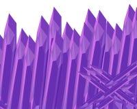 石头锋利的篱芭 紫色的紫色 E 库存例证