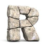 石字体信件R 3D 皇族释放例证