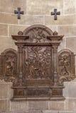 石安心在条顿人命令的教会里在维也纳 免版税库存照片