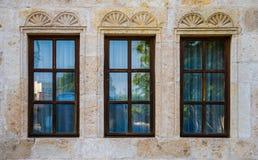 石宫殿Windows 免版税库存照片