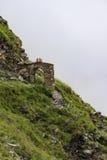 石山羊近的远足的路线通过曲拱 免版税图库摄影