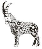 石山羊, zentangle传统化了,导航,例证, freehan 库存照片