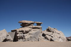 石岩层在阿塔卡马沙漠,玻利维亚 库存图片