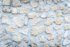 石岩石篱芭或gabion墙壁纹理 图库摄影