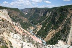 黄石峡谷 库存照片
