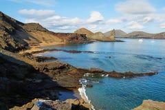 石峰岩石和周围看法在Bartolome 免版税图库摄影