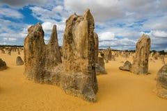 石峰沙漠在Nambung国家公园 库存照片
