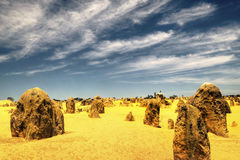 石峰沙漠, Nambung国家公园,西澳州 库存图片
