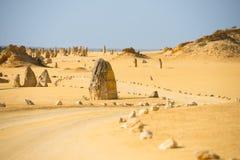 石峰沙漠Nambung澳大利亚 库存照片