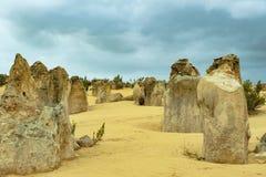 石峰,西部澳大利亚,石峰Nambung公园 免版税库存图片