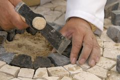 石工作 免版税库存照片
