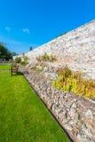 石庭院墙壁 库存照片
