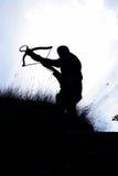 石弓猎人 免版税库存照片