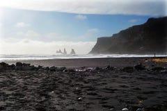 石形成在冰岛 免版税库存图片